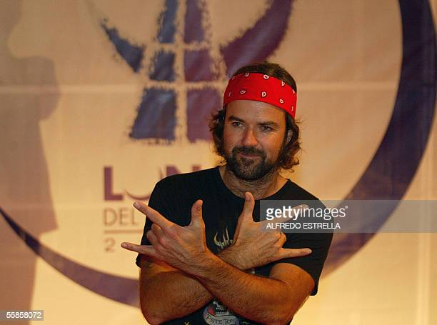 Spanish singer Pau Dones of Jarabe de Palo poses for photographers upon arriving to a ceremony awards Lunas del Auditorio at National Auditorium in...