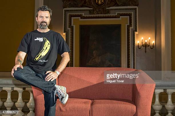 Spanish singer Pau DoneŽs vocalist of Spanish band Jarabe de Palo poses for pictures during a press conference to promote the Americano 2015 Tour on...