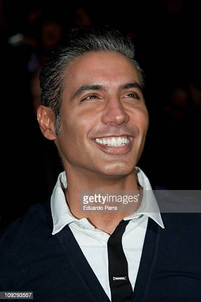 Spanish singer Pitingo attends the Victorio Lucchino fashion show during the Cibeles Madrid Fashion Week A/W 2011 at Ifema on February 19 2011 in...