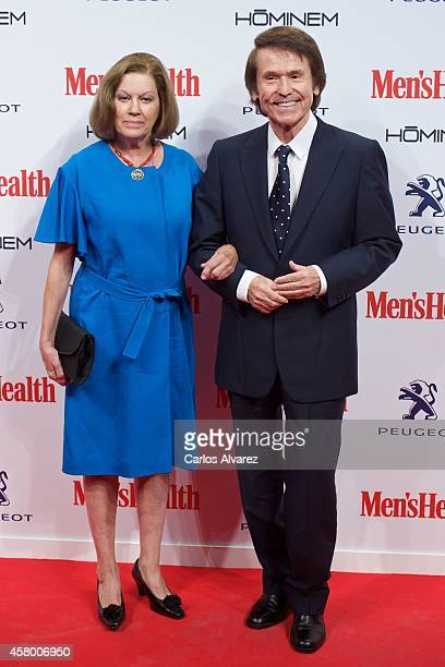 Spanish singer Raphael and wife Natalia Figueroa attend the Men's Health 2014 awards at the Goya Theater on October 28 2014 in Madrid Spain