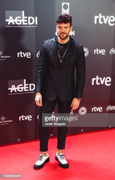 Spanish singer Ricky Merino attends the 1st Odeon Awards at Teatro Real on January 20 2020 in Madrid Spain