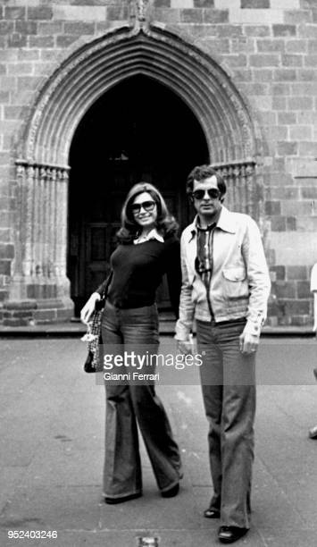 Spanish singer Rocio Jurado and her husband the Spanish boxer Pedro Carrasco Madrid Spain