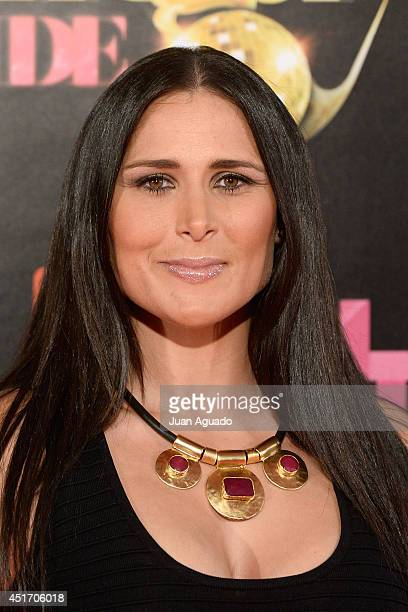 Spanish singer Rosa attends the Shangay Pride Madrid Photocall 2014 at Vicente Calderon Stadium on July 4 2014 in Madrid Spain