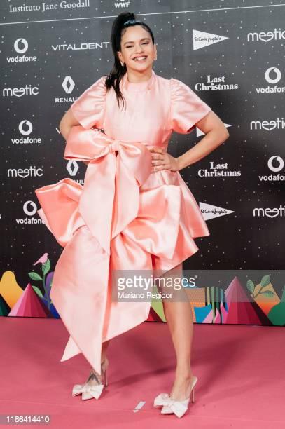 Spanish singer Rosalia Vila attends 'Los40 music awards 2019' photocall at Wizink Center on November 08, 2019 in Madrid, Spain.