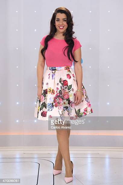 """Spanish singer Ruth Lorenzo attends the """"Eurovision Festival"""" Spanish candidates 2014 press conference at Torrespana on February 18, 2014 in Madrid,..."""