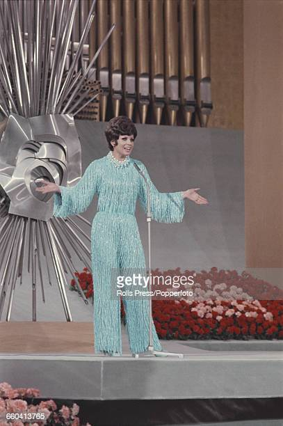 Spanish singer Salome Spain's entry for the 1969 Eurovision Song Contest performs her song 'Vivo cantando' to finish in joint first place inside the...