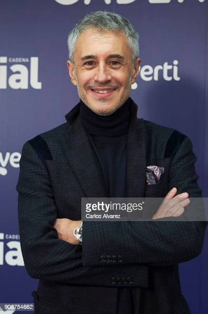Spanish singer Sergio Dalma attends Cadena Dial Awards press conference on January 22 2018 in Madrid Spain