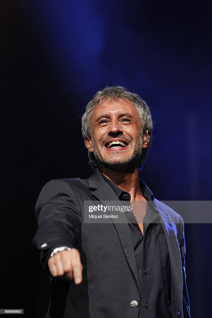 Spanish singer Sergio Dalma performs at Auditori del Forum on May 19, 2010 in Barcelona, Spain.