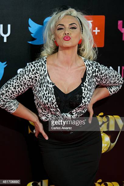 Spanish singer Silvia Superstar attends the Shangay Pride concert at the Vicente Calderon stadium on July 4 2014 in Madrid Spain
