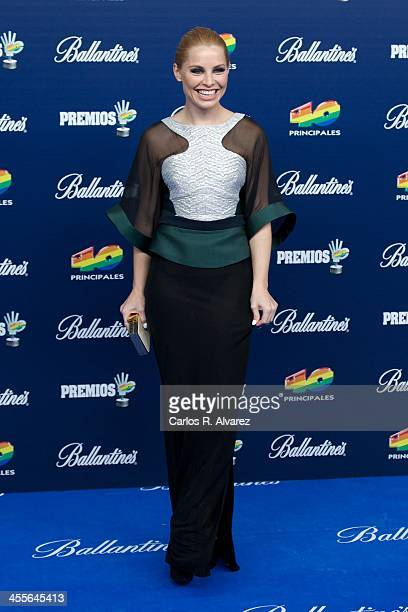 Spanish singer Soraya Arnelas attends the '40 Principales Awards' 2013 photocall at Palacio de los Deportes on December 12 2013 in Madrid Spain
