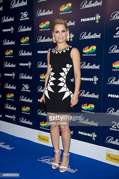 Spanish singer Soraya Arnelas attends the '40 principales' Awards candidates presentation photocall on October 9 2014 in Madrid Spain