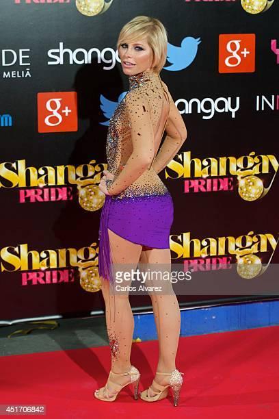 Spanish singer Soraya Arnelas attends the Shangay Pride concert at the Vicente Calderon stadium on July 4 2014 in Madrid Spain