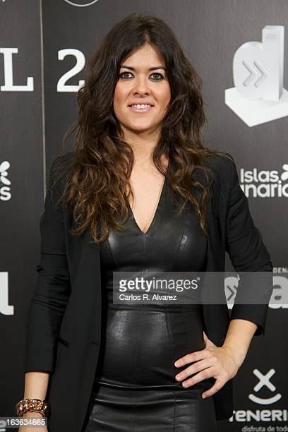 Spanish singer Vanesa Martin attends Cadena Dial awards 2013 press room at the Adan Martin auditorium on March 13 2013 in Tenerife Spain