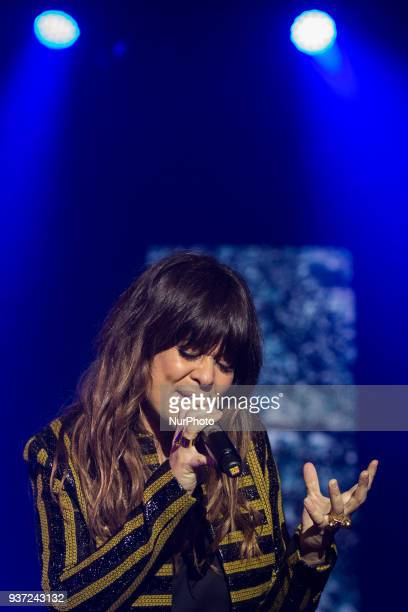 Spanish singer Vanesa Martin performing on stage at Aula Magna in Lisbon on March 23 2018
