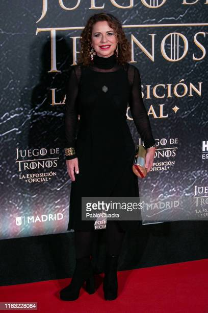 Spanish singer Vicky Larraz attends the 'Game Of Thrones The Official Exhibition' photocall at Ifema on October 24 2019 in Madrid Spain