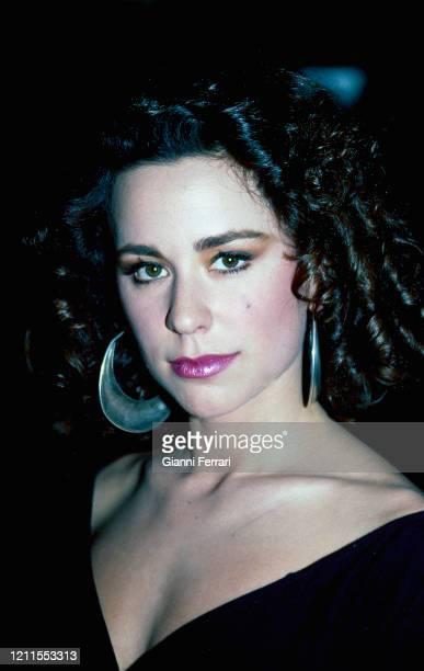 Spanish singer Vicky Larraz Madrid Spain 1990
