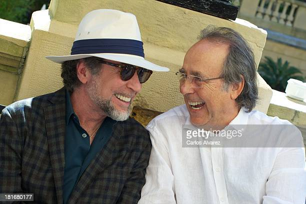 Spanish singers Joaquin Sabina and Joan Manuel Serrat pose for a portrait session at the Maria Cristina Hotel during the 61st San Sebastian...