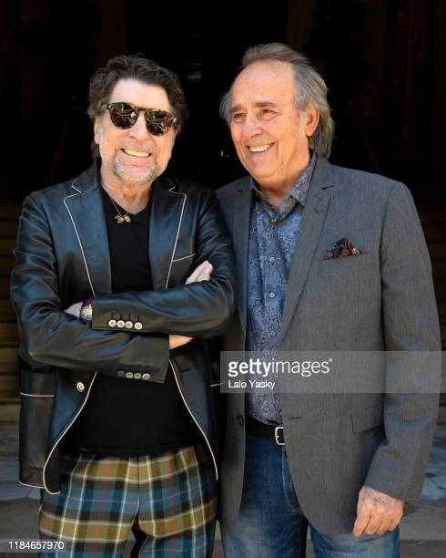 Spanish singers Joaquin Sabina and Joan Manuel Serrat present 'No Hay Dos Sin Tres' tour at the Four Seasons Hotel on October 31 2019 in Buenos Aires...