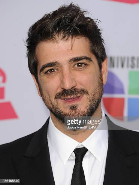 Spanish singersongwriter Antonio Orozco arrives at the 13th annual Latin GRAMMY Awards held at the Mandalay Bay Events Center on November 15 2012 in...
