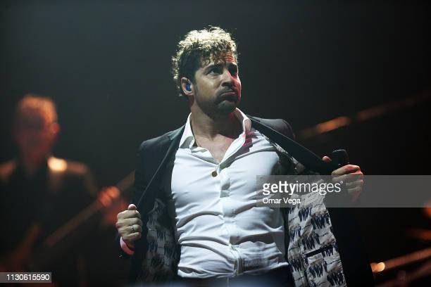 Spanish singersongwriter David Bisbal performs on stage during the concert 'Tour USA' 2019 at House Of Blues on February 18 2019 in Dallas Texas