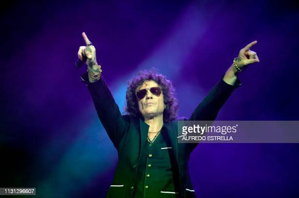 Spanish singersongwriter Enrique Bunbury performs during the second day of the 'Vive Latino' music festival in Mexico City on March 17 2019