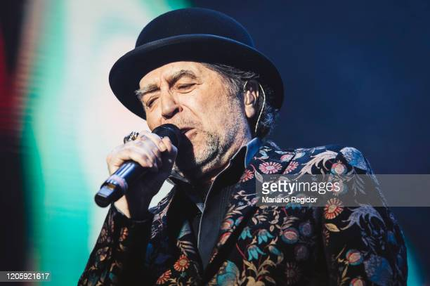 Spanish singersongwriter Joaquin Sabina performs on stage at Wizink Center on February 12 2020 in Madrid Spain