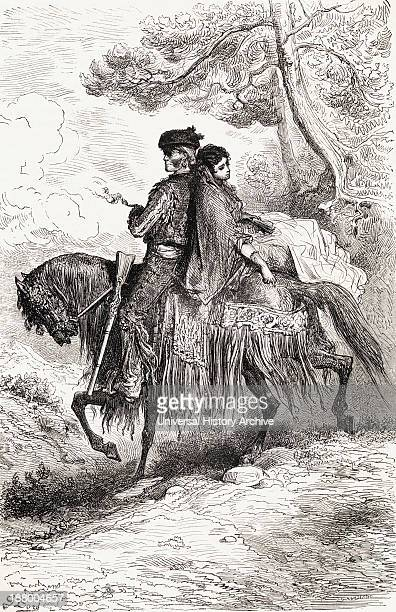 A Spanish Smuggler From Ronda With His Woman From A 19Th Century Print From El Mundo En La Mano Published 1878