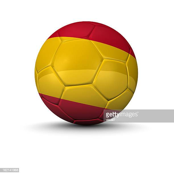 spanish soccer ball - football in spain stock photos and pictures