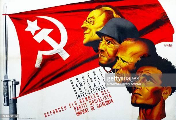 Spanish Socialist propaganda poster during the Spanish Civil War