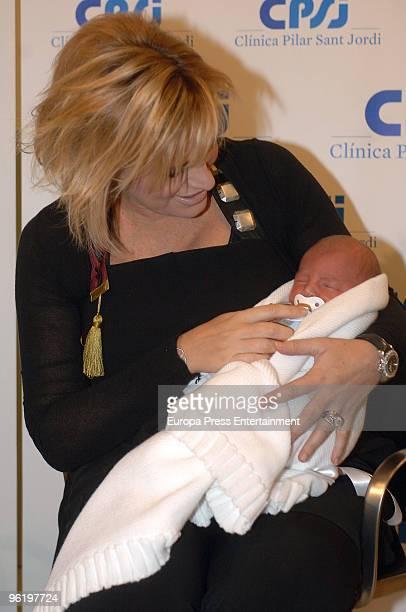 Spanish soprano Ainhoa Arteta presents her first baby Iker born January 20 on January 26 2010 in Barcelona Spain The soprano also has a nineyearold...