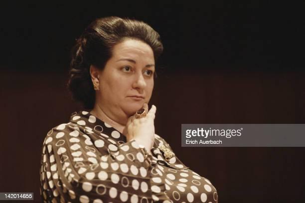 Spanish soprano Montserrat Caballe circa 1968