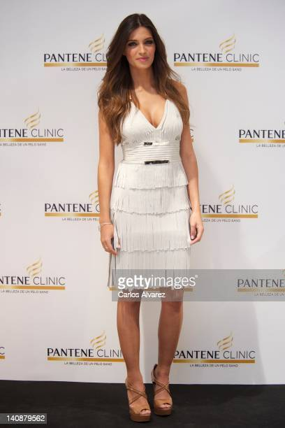 Spanish sports journalist Sara Carbonero attends new Pantene Clinic opening on March 7 2012 in Madrid Spain