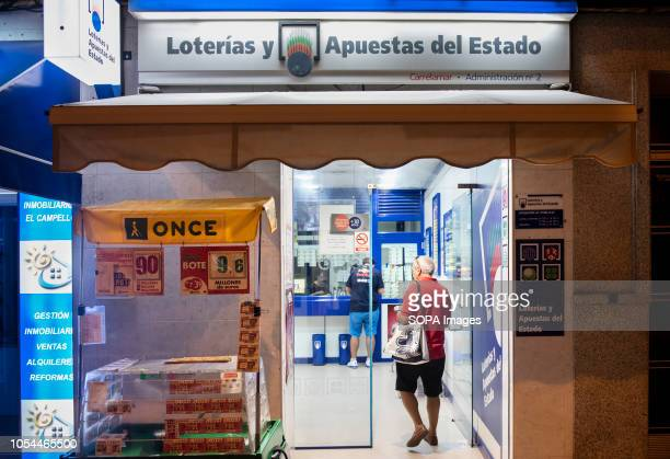 Spanish State controlled lottery and other sports betting events point of sale seen in Spain