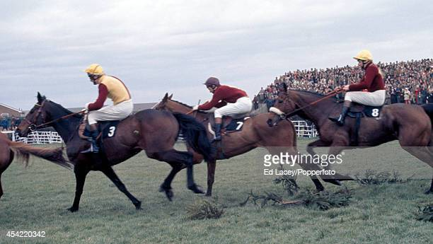 Spanish Steps ridden by Philip Backer leading from Glenkiln ridden by Jonjo O'Neil and Red Rum the eventual winner ridden by Brian Fletcher at the...