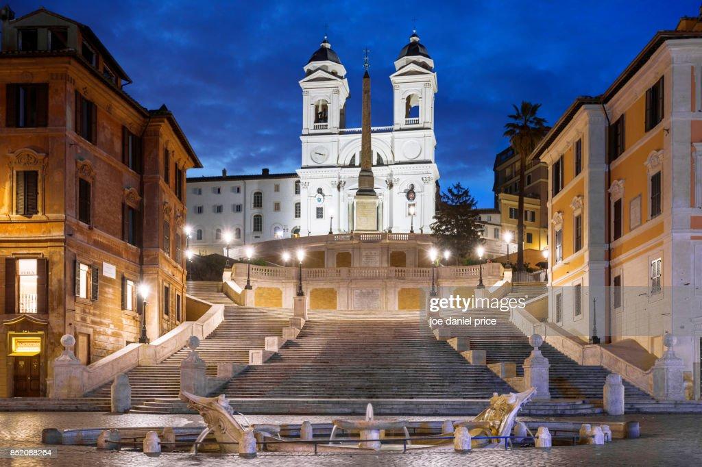 Spanish Steps Scalinata di Trinità dei Monti Rome Italy : Stock Photo
