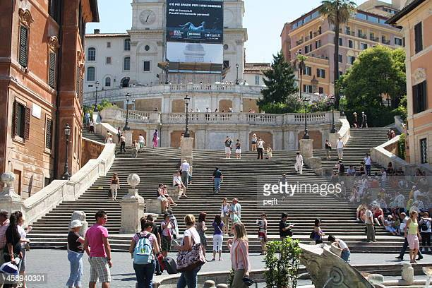 spanish steps with people - pejft stock pictures, royalty-free photos & images