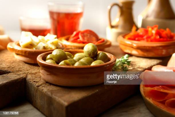 spanish stills: tapas - - tapas stock photos and pictures