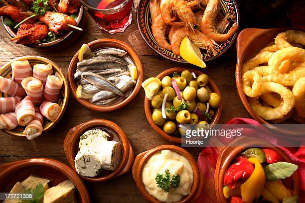 spanish stills: tapas - variety - spanish culture stock pictures, royalty-free photos & images