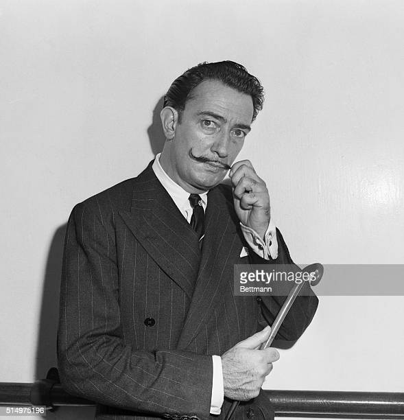 Spanish surrealist painter Salvador Dali was aboard the US Lines Flagship America when it sailed for Europe today Dali in addition to his painting...