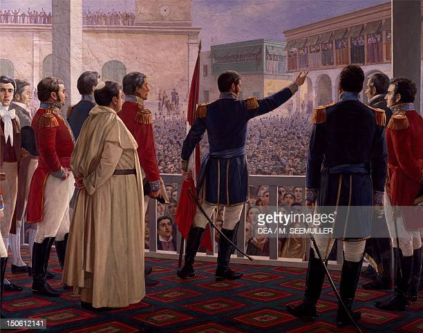 Spanish surrender following the Battle of Ayacucho on December 9 1824 Peruvian War of Independence Peru 19th century