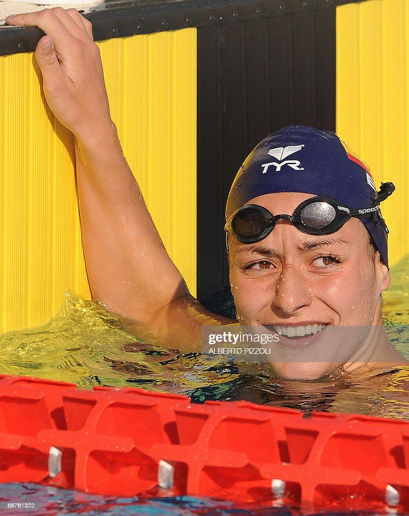Spanish swimmer Patricia Castro Ortega r : Fotografía de noticias