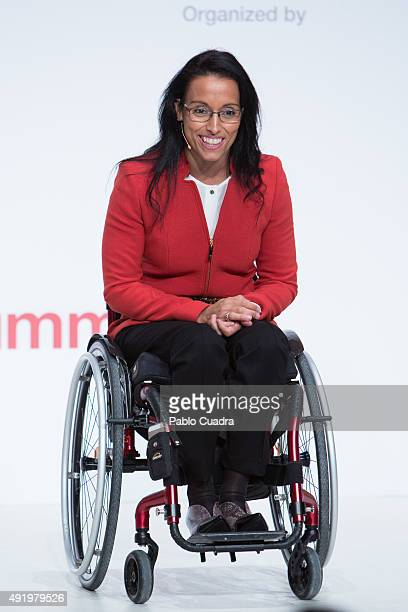 Spanish swimmer Teresa Perales attends the 'South Summit 2015' closure event at Las Ventas Bullring on October 9 2015 in Madrid Spain