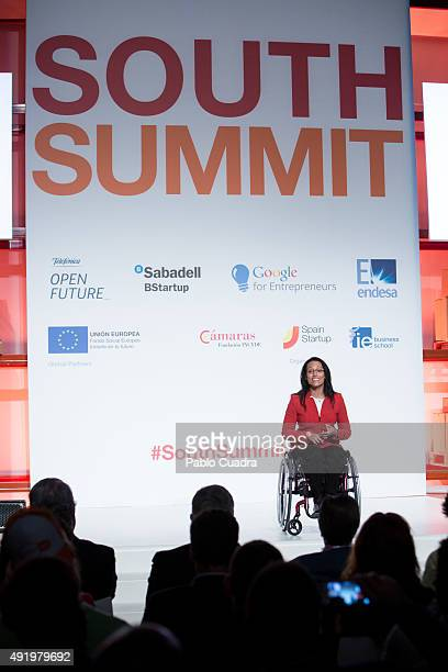 Spanish swimmer Teresa Perales attends the 'South Summit 2015' closure event at Las Ventas Bullring at Las Ventas Bullring on October 9 2015 in...