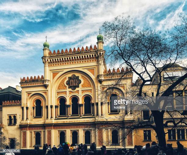 spanish synagogue facade - jewish museum stock pictures, royalty-free photos & images