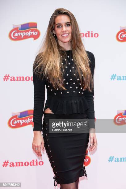 Spanish synchronized swimmer Ona Carbonell presents the 'Campofrio' Christmas spot at 'La casa Encendida' on December 18 2017 in Madrid Spain