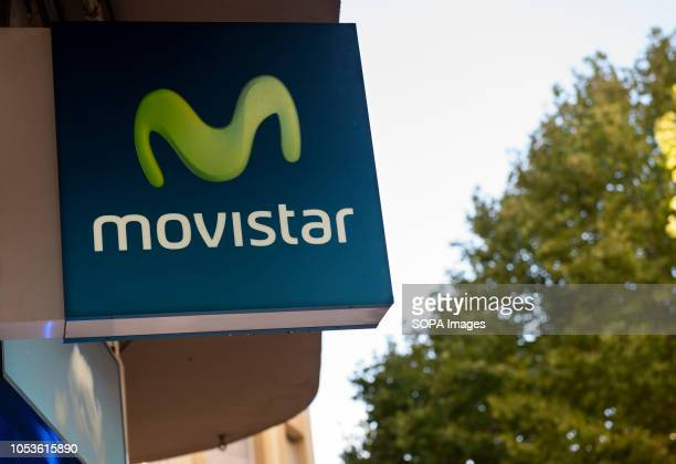 Spanish telecommunications brand owned by Telefonica and largest mobile phone operator Movistar store seen in Cordoba