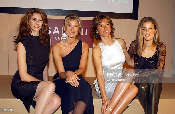 Spanish television newscaster Ana Garcia Sineriz and models Anne Igartiburu Paloma Lago and Jaydi Mitchel attend the event for the new publicity...