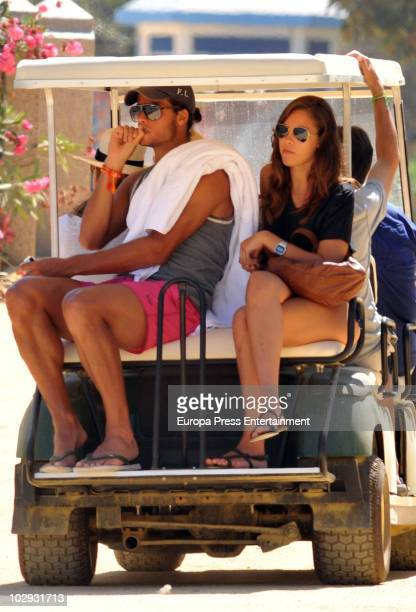 Spanish tennis player Feliciano Lopez and his new girlfriend are seen sighting on July 16 2010 in Marbella Spain