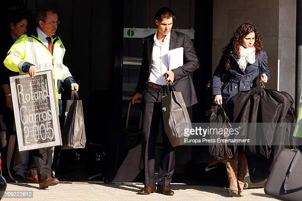 Spanish tennis player Rafael Nadal and his girlfriend Xisca Perello are seen sighting on February 16 2011 in Mallorca Spain