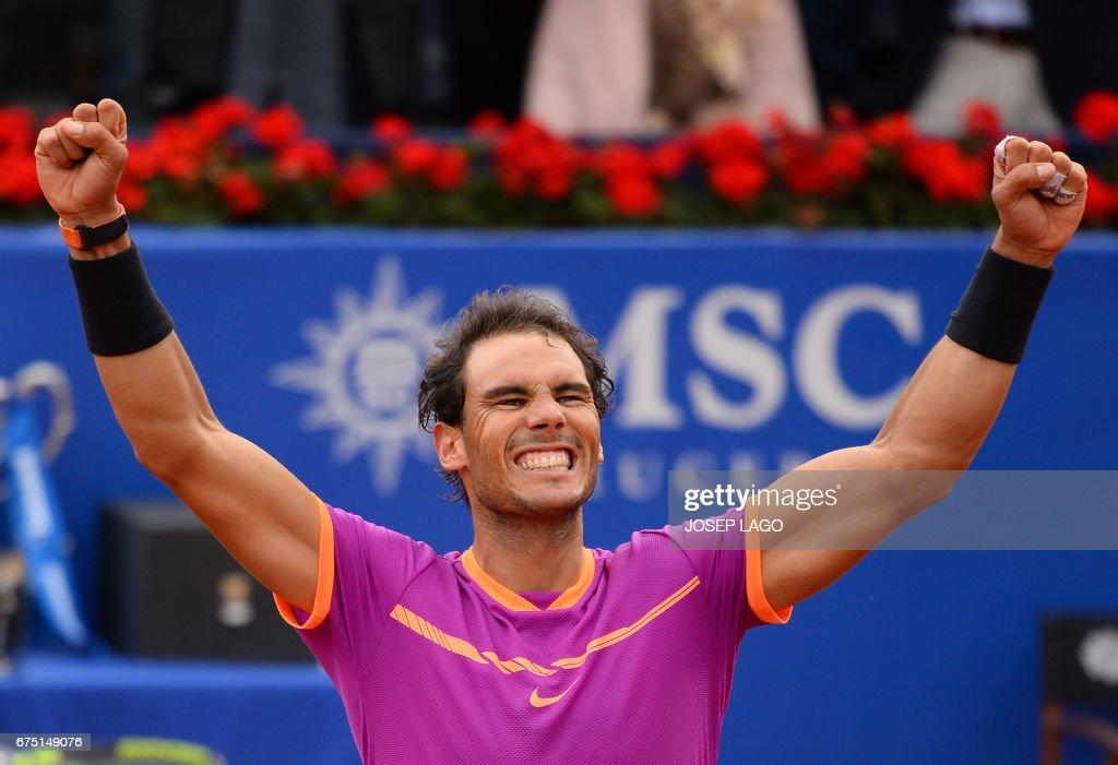 TOPSHOT-TENNIS-ATP-ESP-BARCELONA-OPEN : News Photo